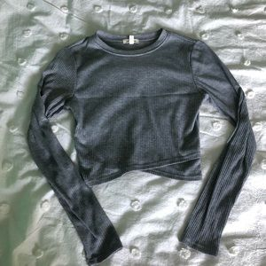 Urban Outfitters Long Sleeved Crop Top